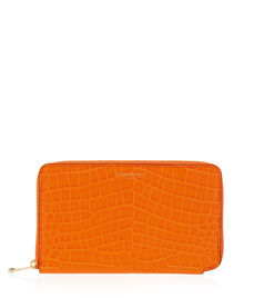 West 57th Croco XL Zip Around Continental Wallet