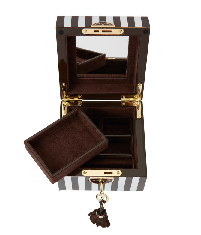 Henri Bendel Striped Small Jewelry Box