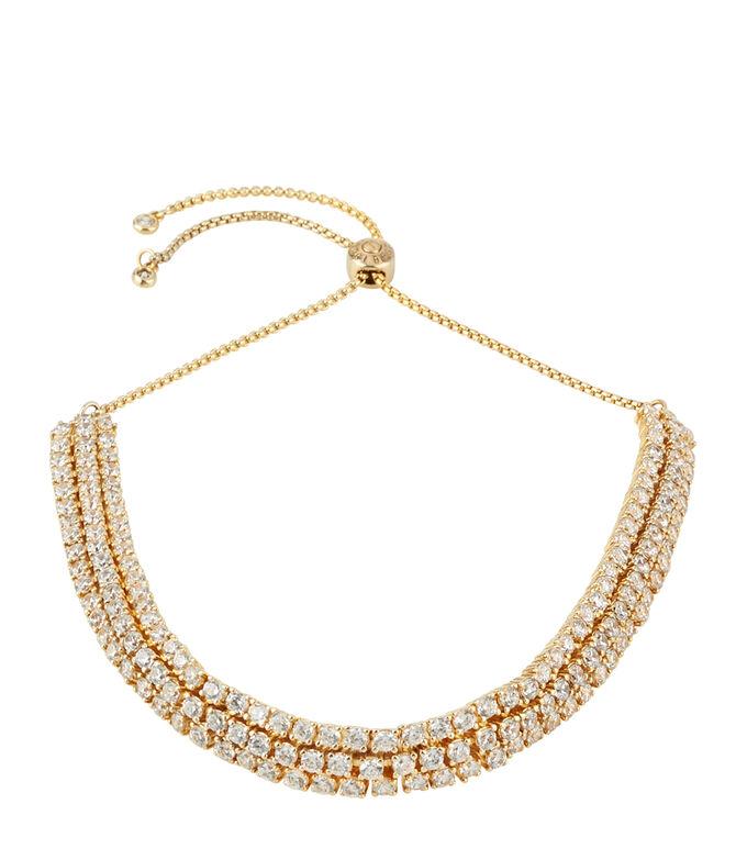 Luxe Pave Ribbon Slider Bracelet
