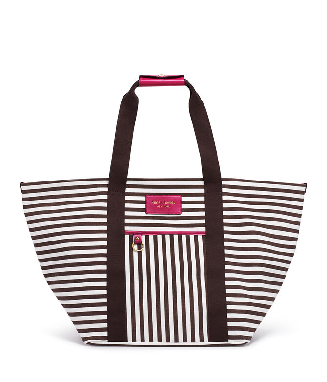 Signature Stripe Canvas Tote