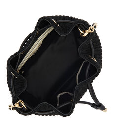 No. 7 Glitter Drawstring Crossbody