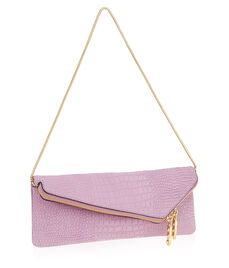 Debutante Croco Slim Clutch