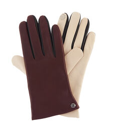Colorblock Nappa Leather Gloves