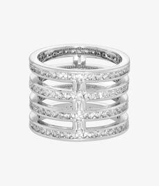 Luxe Asscher Stack Ring