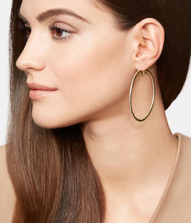 Luxe Uptown Pave Hoop Earring