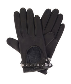 Metal Studs Interlock Gloves