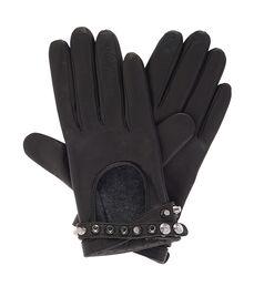 Metal Studs Interlock Gloves