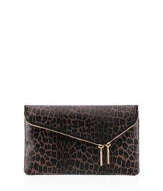Debutante Convertible Leopard Clutch