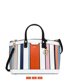 West 57th Stripe Satchel