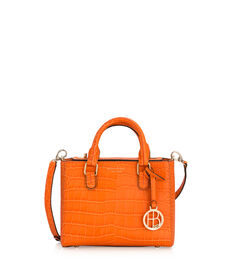 West 57th Mini Turnlock Croco Satchel