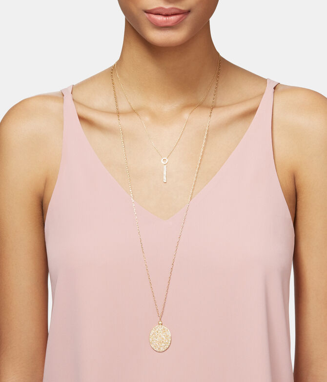 Luxe Elements Truth Pave Disc Pendant