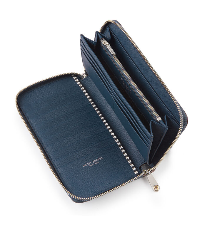 West 57th Watercolor Stripe Zip Around Wallet
