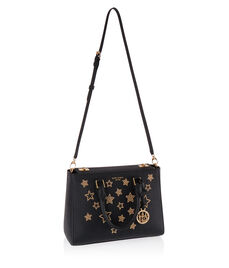 West 57th Star Studded Small Turnlock Satchel