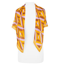 Palm Beach Geo Silk Scarf