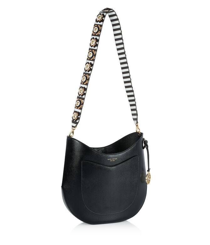 West 57th Crossbody Hobo with Bouquet Striped Guitar Strap