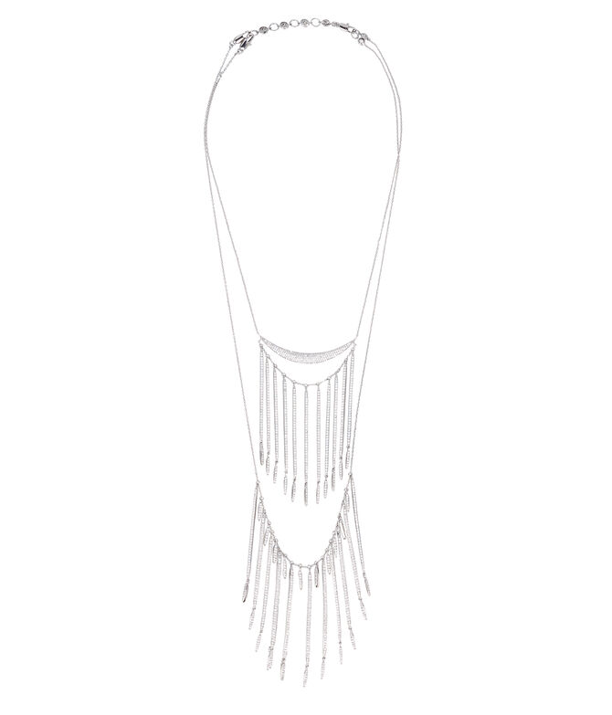 Luxe Tribal Fringe Double Necklace
