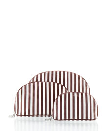 Brown & White Wedge Set of 3