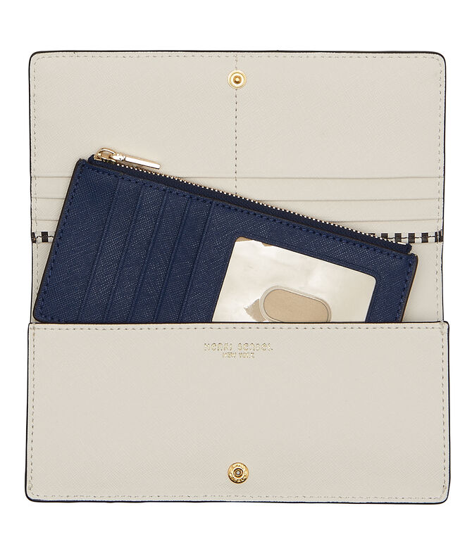 West 57th Stripe Kangaroo Wallet