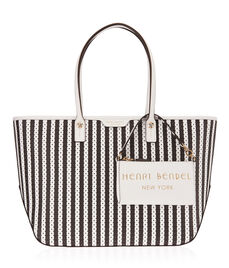 West 57th E/W Perforated Striped Tote