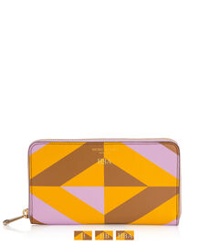 West 57th Geo Print Zip Around Continental Wallet