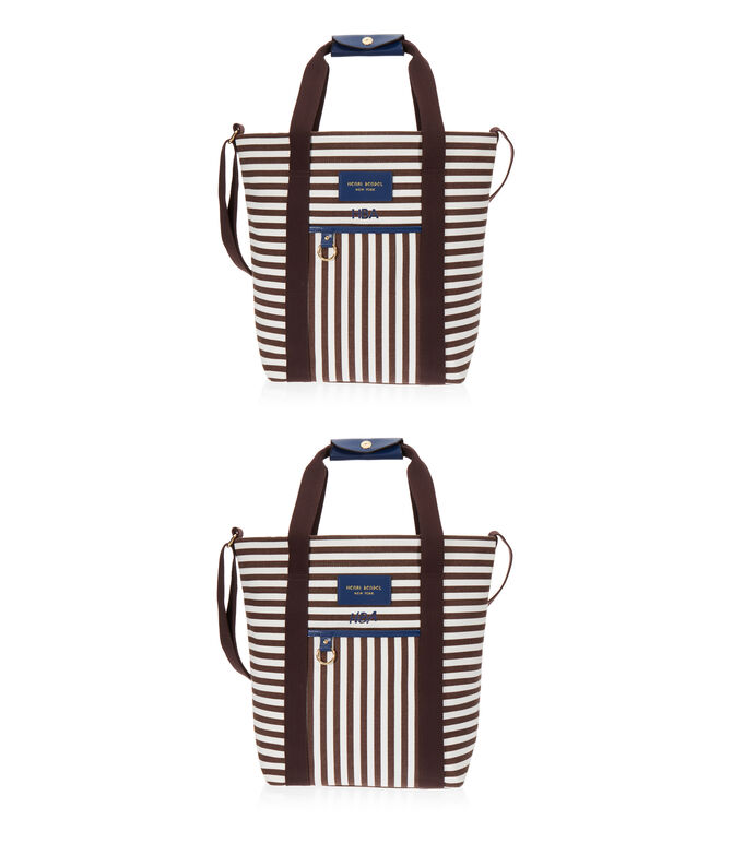 Signature Stripe Canvas Magazine Tote