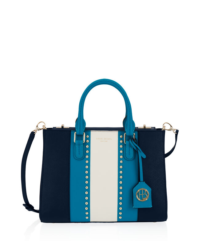West 57th Small Turnlock Studded Satchel