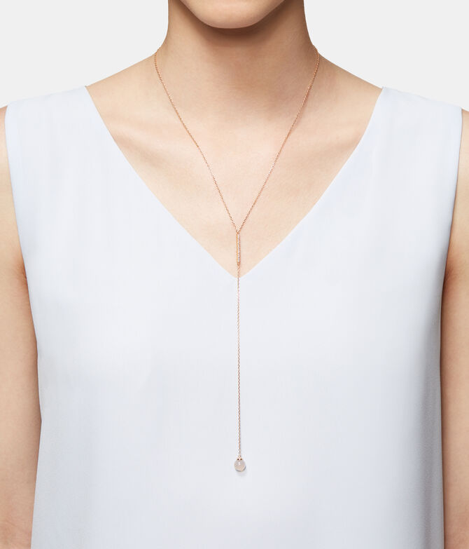 Luxe Semi Thread Y Necklace
