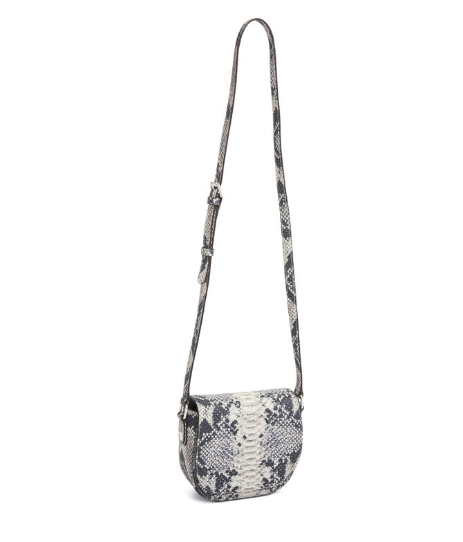 West 57th Snake Embossed Mini Saddle Bag