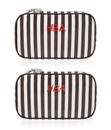 Brown & White Jewelry Travel Zip Case
