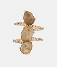 Luxe Diamond Slice Wrap Ring
