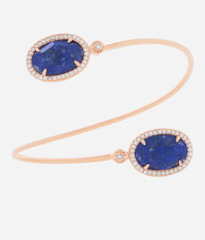 Luxe Semi Precious Wrap Cuff Bracelet