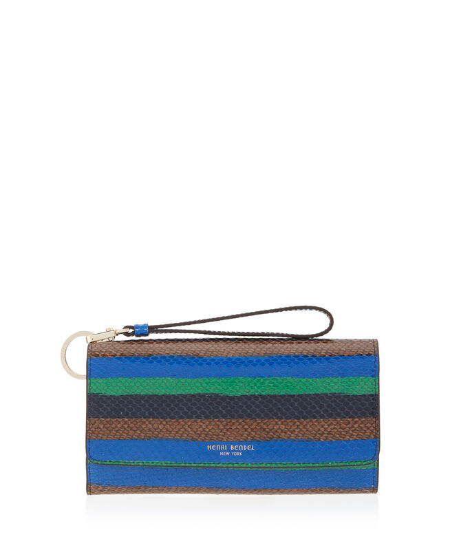 Uptown Striped Snake Out & About Organizer Wallet