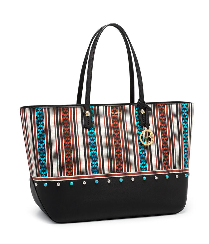 West 57th Bead Print Large Tote