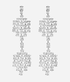 Luxe Diamond Slice Chandelier Earrings