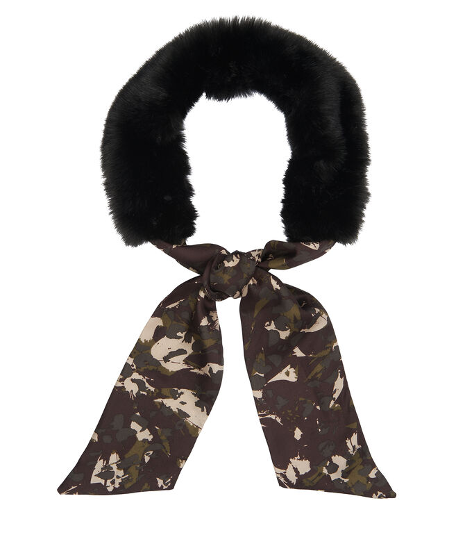 Camouflage Faux Fur Collar