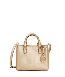 West 57th Lizard Mini Turnlock Satchel