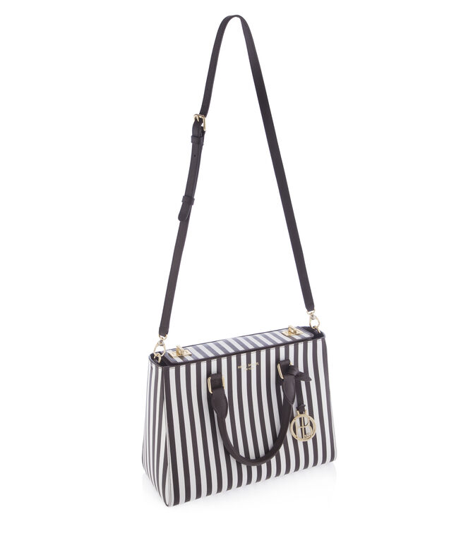 Centennial Stripe Small Turnlock Satchel