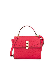 Uptown Mini Ostrich Satchel