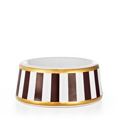 HENRI BENDEL STRIPE SMALL DOG BOWL