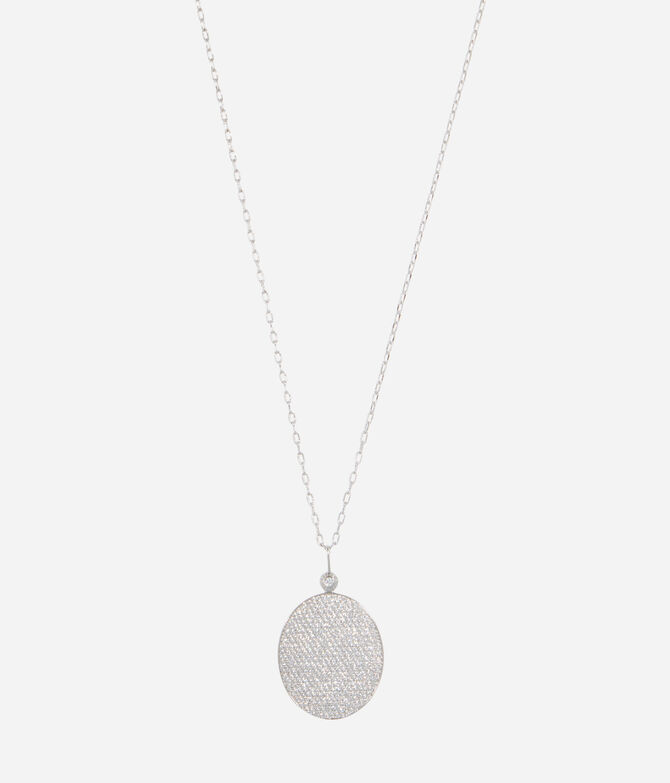 Luxe Sporty Disc Long Pendant