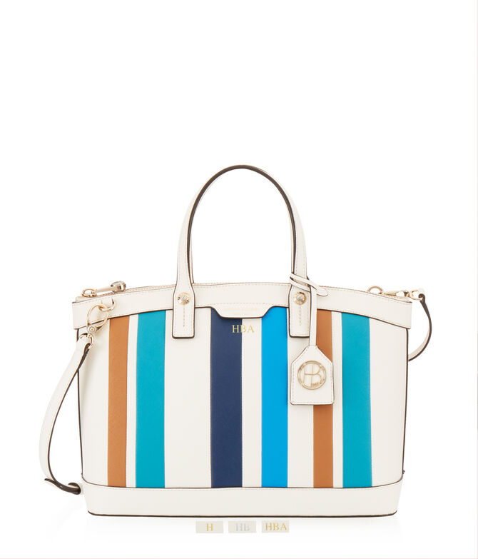 West 57th Striped Satchel