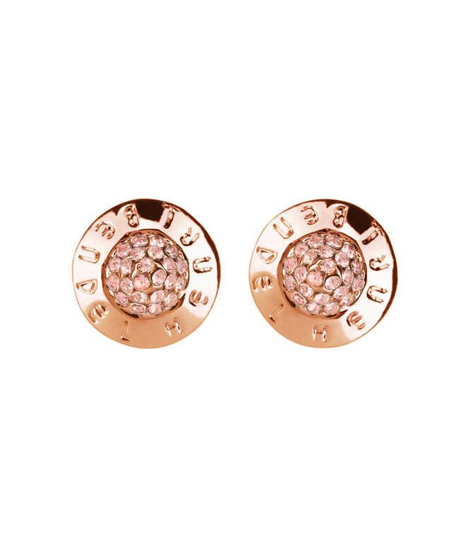 THE PLAZA PAVE STUD EARRINGS