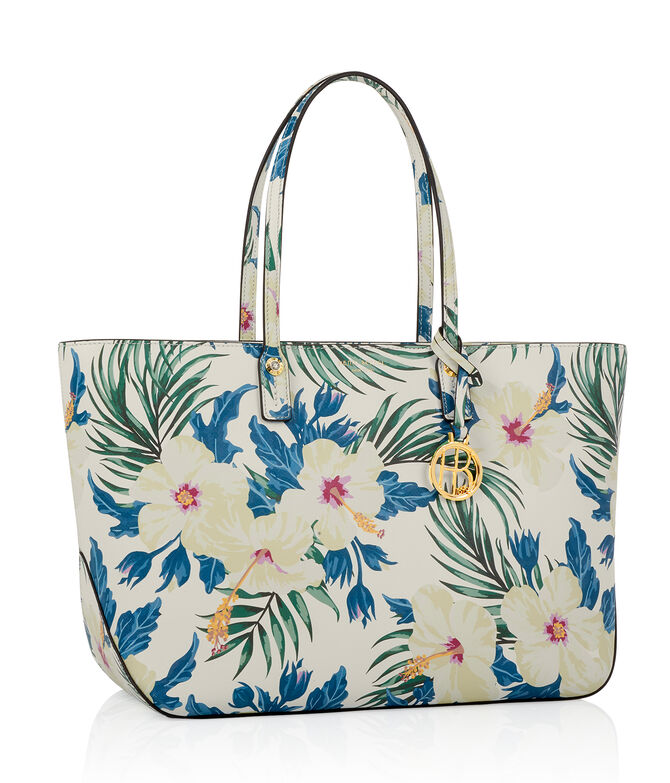 West 57th E/W Floral Print Tote
