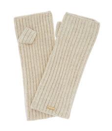 Cashmere Ribbed Fingerless Gloves
