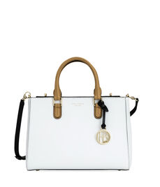 West 57th Color Blocked Small Turnlock Satchel