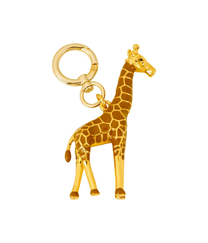 Gigi the Giraffe Metal Key Fob