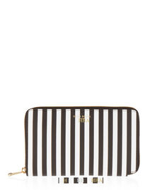 Centennial Stripe XL Zip Around Continental Wallet