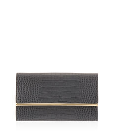 A-List Croco Clutch