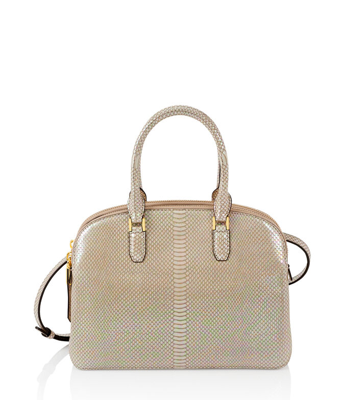 Dalton Snake Embossed Medium Dome Satchel