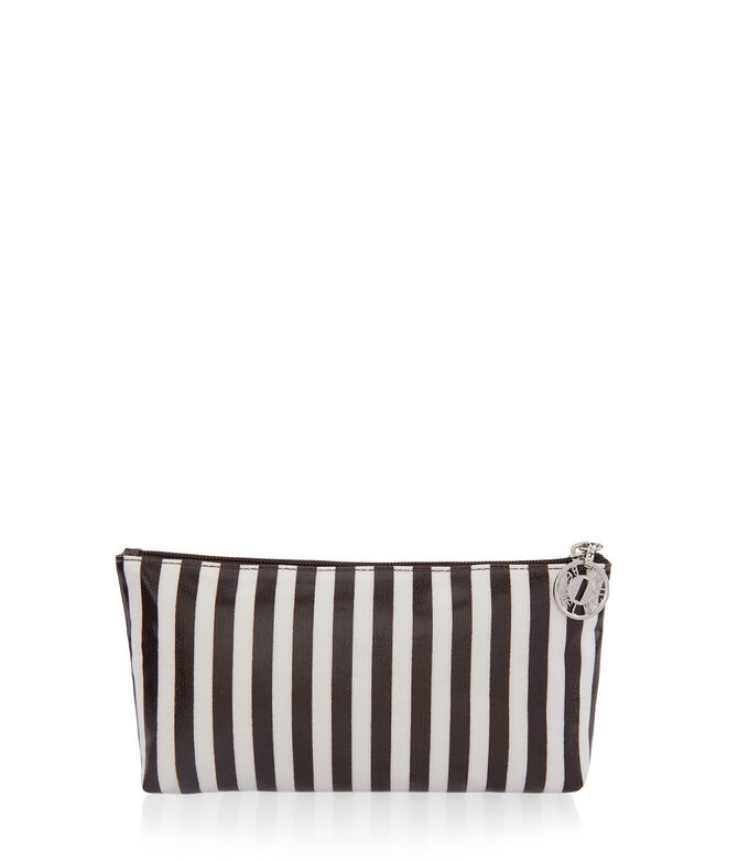 Brown & White Medium T Gusset Cosmetic Bag